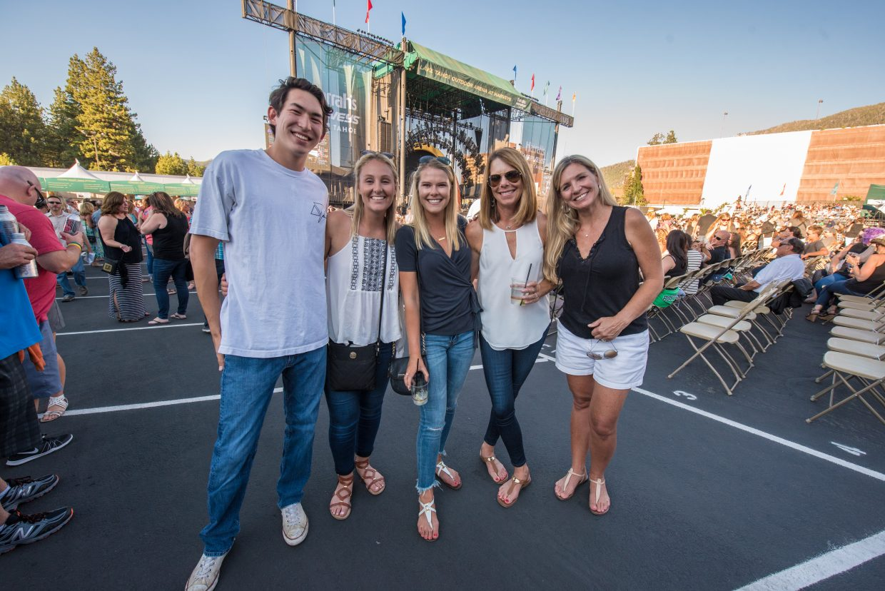 Amy with family celebrating her 21st birthday at the Harveys Lake Tahoe outdoor concert venue on Sunday, July 9th.
