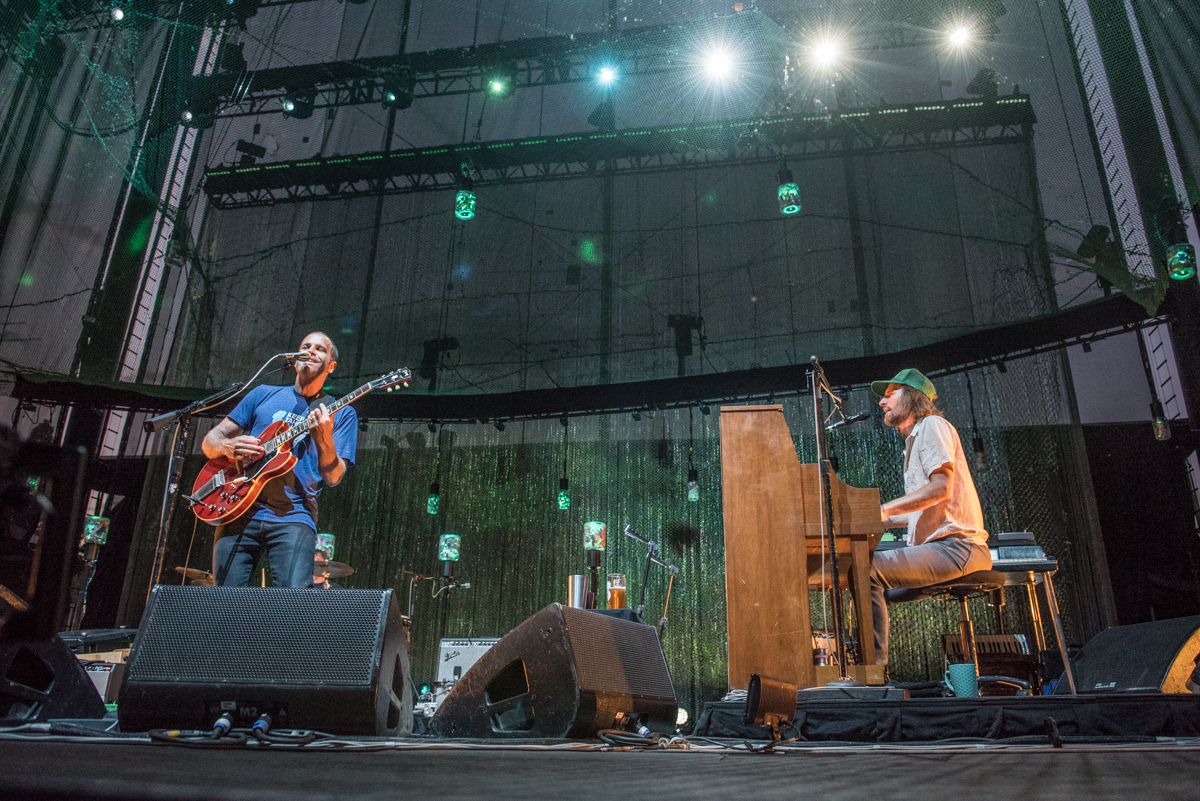 Jack Johnson with his band members performing at Harvey's Lake Tahoe on Friday July 28th.