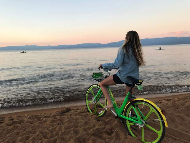 Two hundred LimeBikes will be available on Lake Tahoe's South Shore starting on Saturday, July 15.
