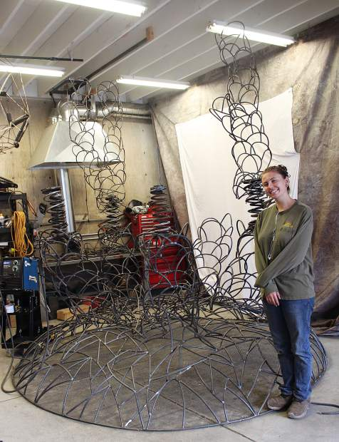 Levine still has several pieces to attach to the sculpture, which will be on display in the Black Rock Desert for Burning Man from Aug. 27 - Sept. 4.