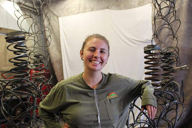 Jessica Levine, 24, is creating a 10-foot tall steel sculpture for Burning Man after receiving an honorarium grant from the festival.