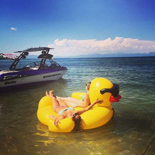 Just duckin around. #tahoesummer #boatrides #tahoesnaps #tahoelife #quack