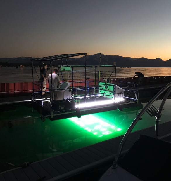 John Paoluccio, president of Inventive Resources, said he prefers to work at night when there is less activity on the water.