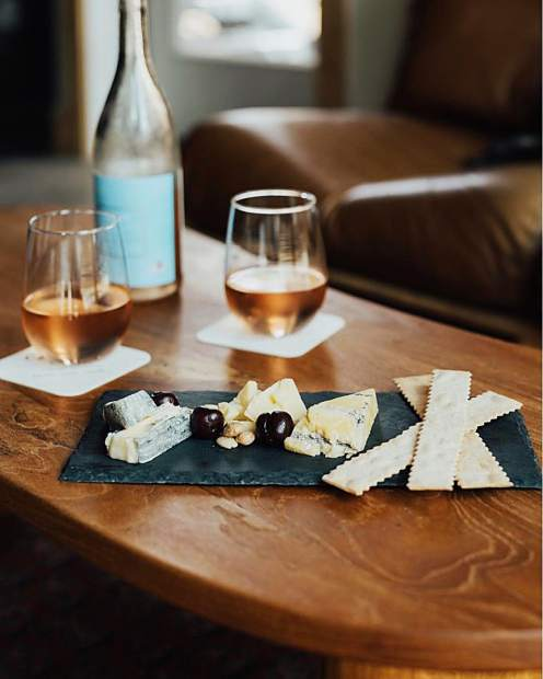 Cheese plate now available at the bar.