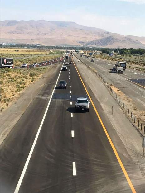 The view from Fairview Bridge Wednesday morning of vehicles entering the last three southern miles of the Carson City Freeway.