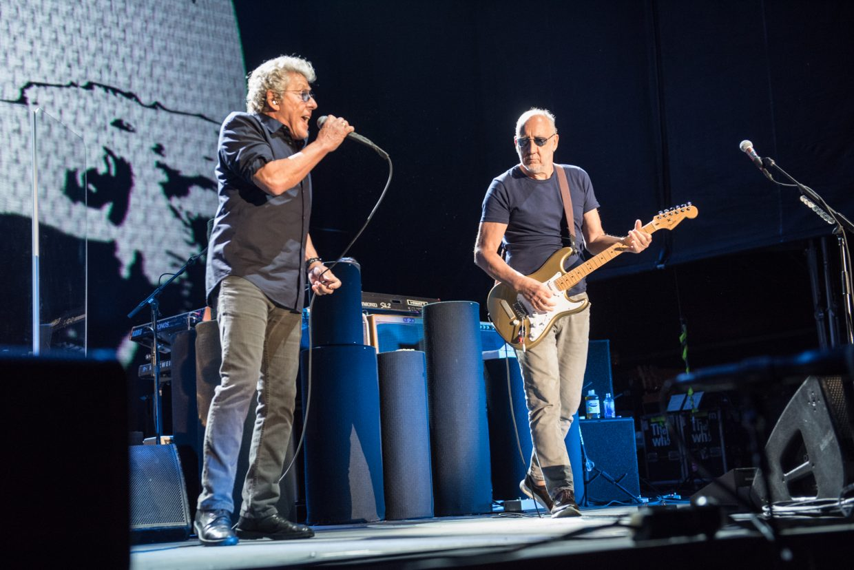The Who performing at Harvey's Outdoor Arena in Lake Tahoe on August 16th, 2017.