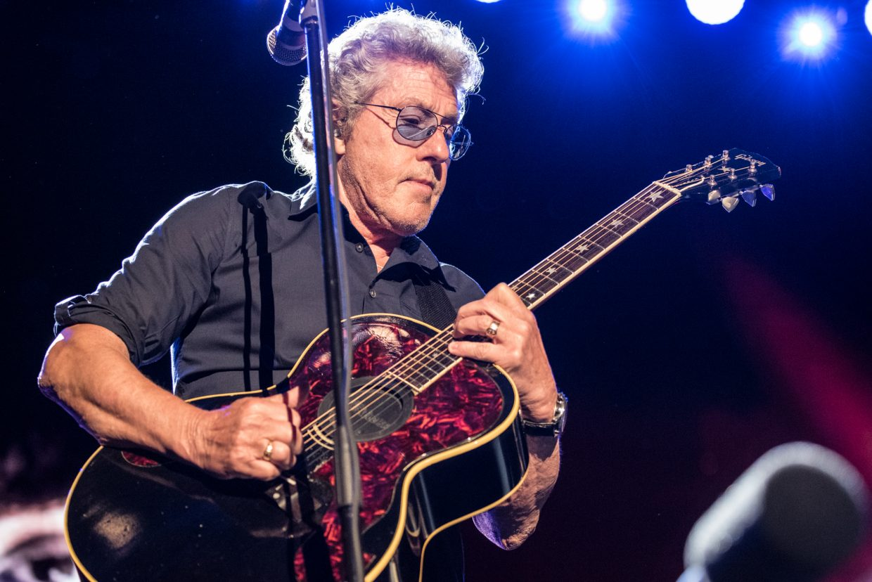 Roger Daltrey of The Who performing at Harvey's Outdoor Arena in Lake Tahoe on August 16th, 2017.