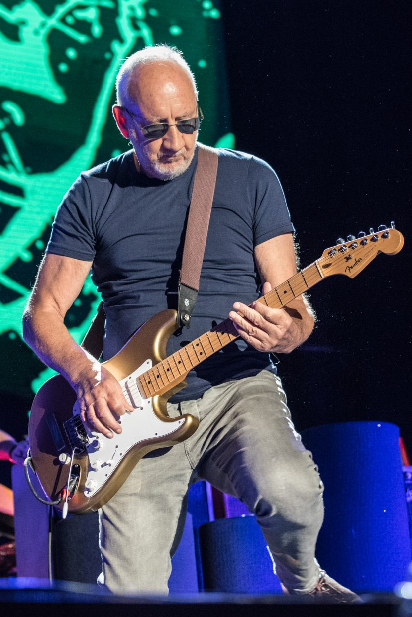 Pete Townhsend of The Who performing at Harvey's Outdoor Arena in Lake Tahoe on August 16th, 2017.