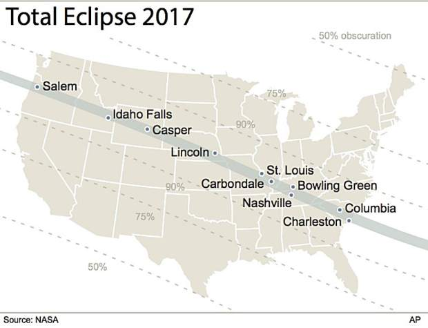 Many people are traveling hundreds of miles to areas of the United States where there will be a total solar eclipse.