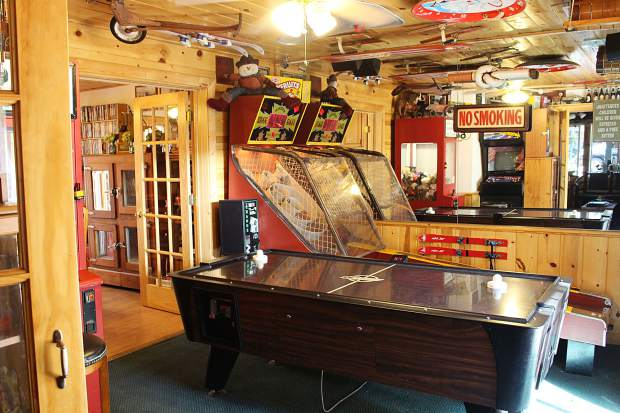 The Fireside Lodge has a vintage game room complete with Ms. Pac-Man, ski ball and air hockey.
