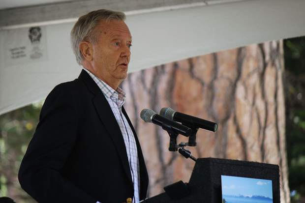 Former Interior Secretary Bruce Babbitt delivered the keynote speech at the event.
