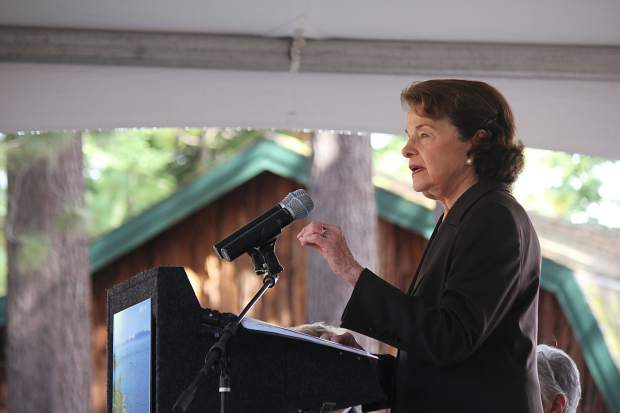 California Sen. Dianne Feinstein hosted the 21st annual Lake Tahoe Summit.