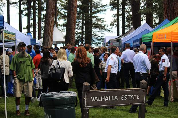 Environmental organizations educated attendees on their programming and initiatives at the Lake Tahoe Summit.