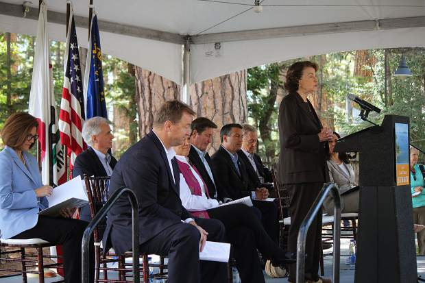 Federal, California and Nevada elected officials spoke at the 21st annual Lake Tahoe Summit.