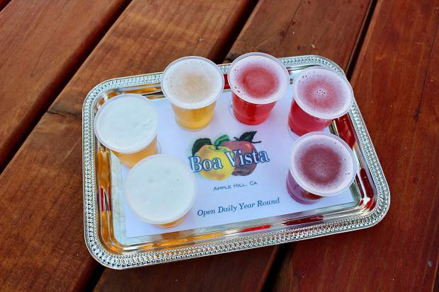 At Boa Vista Orchards, indulge in a flight of flavored cider, apple beer and hoppy ale.