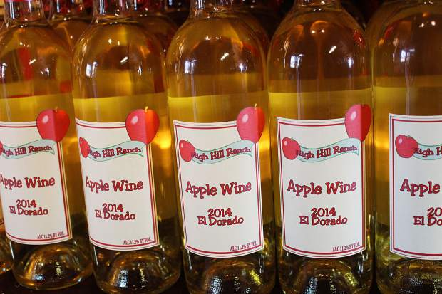 High Hill Ranch produces its own apple wine.
