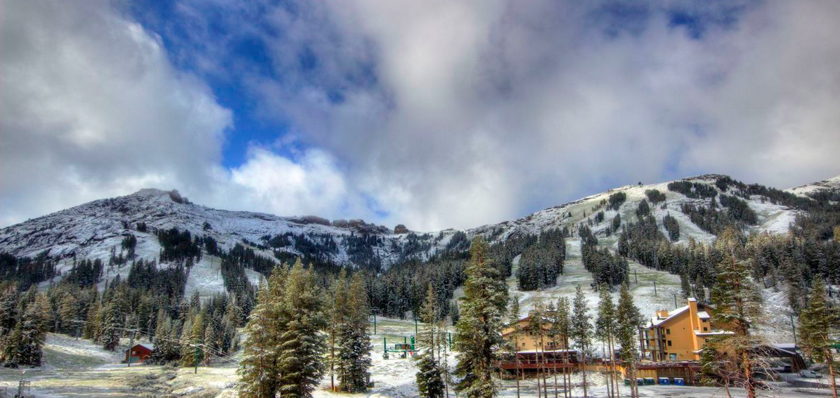 Kirkwood Mountain Resort received a fresh dusting of snow Wednesday night.