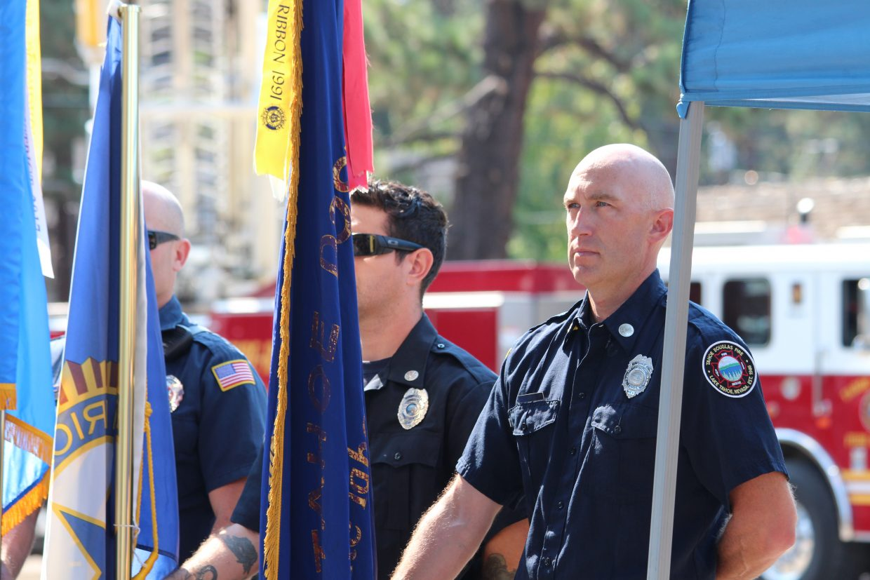 South Shore first responders attended the ceremony to honor those who lost their lives due to the Sept. 11, 2001 terrorist attacks.