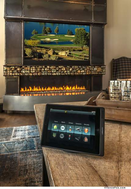 A look inside one of Epic AVA's Martis Camp smart homes in Truckee. Anything from security, lighting, temperature and more can be controlled from a single device.