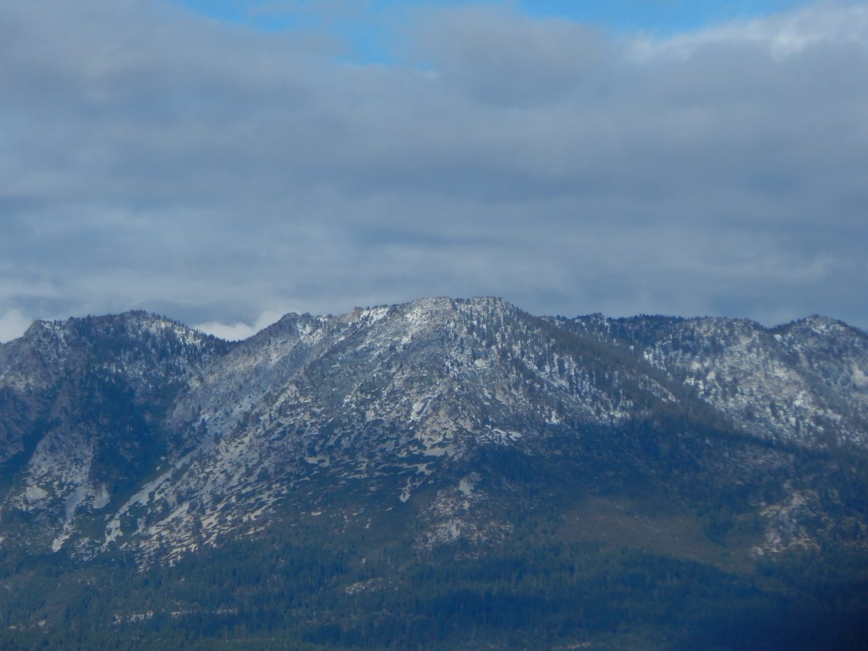 Snow fell on parts of the Sierra Nevada mountains on Wednesday, Sept. 20.