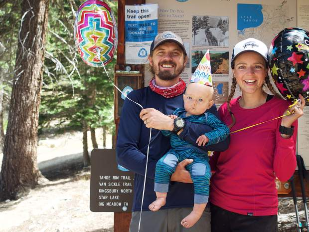 The Nibouars completed the Tahoe Rim Trail on Monday, Aug. 14 — Matilda's first birthday.