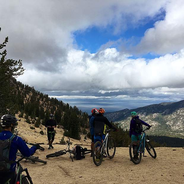 Great day out on the Tahoe Rim Trail with the @norcobicycles crew for camp Norco!