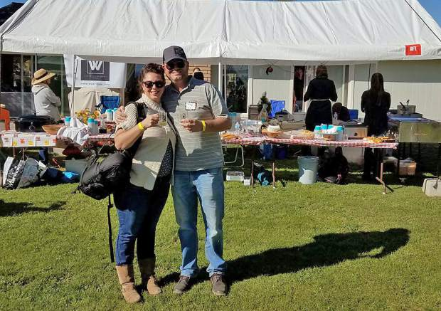 Rae and Troy Matthews help judge the chili contest and the Homebrew for the Homeless annual fundraiser.