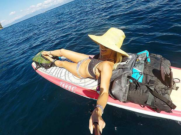 Sit back, smile and enjoy the ride. This is SUP touring Tahoe style.