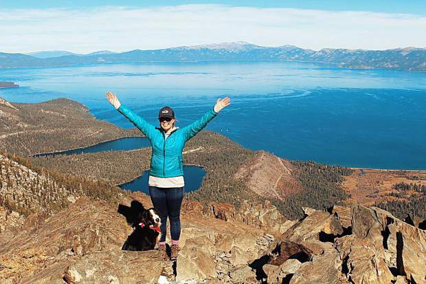 We did it. Climbed 3,000+ feet up to Mt. Tallac's summit at 9,735 feet. Can't walk now and would be totally shocked if I could tomorrow.