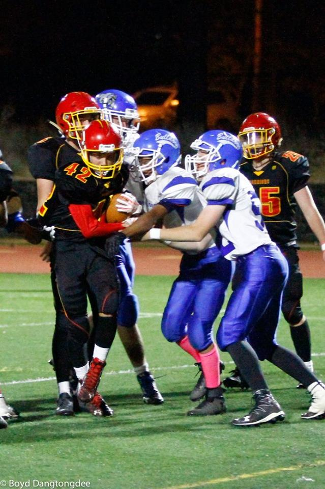 Whittell freshman Jack White carries the ball in the second half Thursday, Oct. 26,  against Smith Valley.