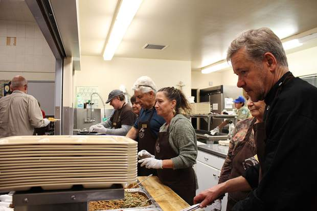 Volunteers served up 244 meals Monday, Nov. 20.