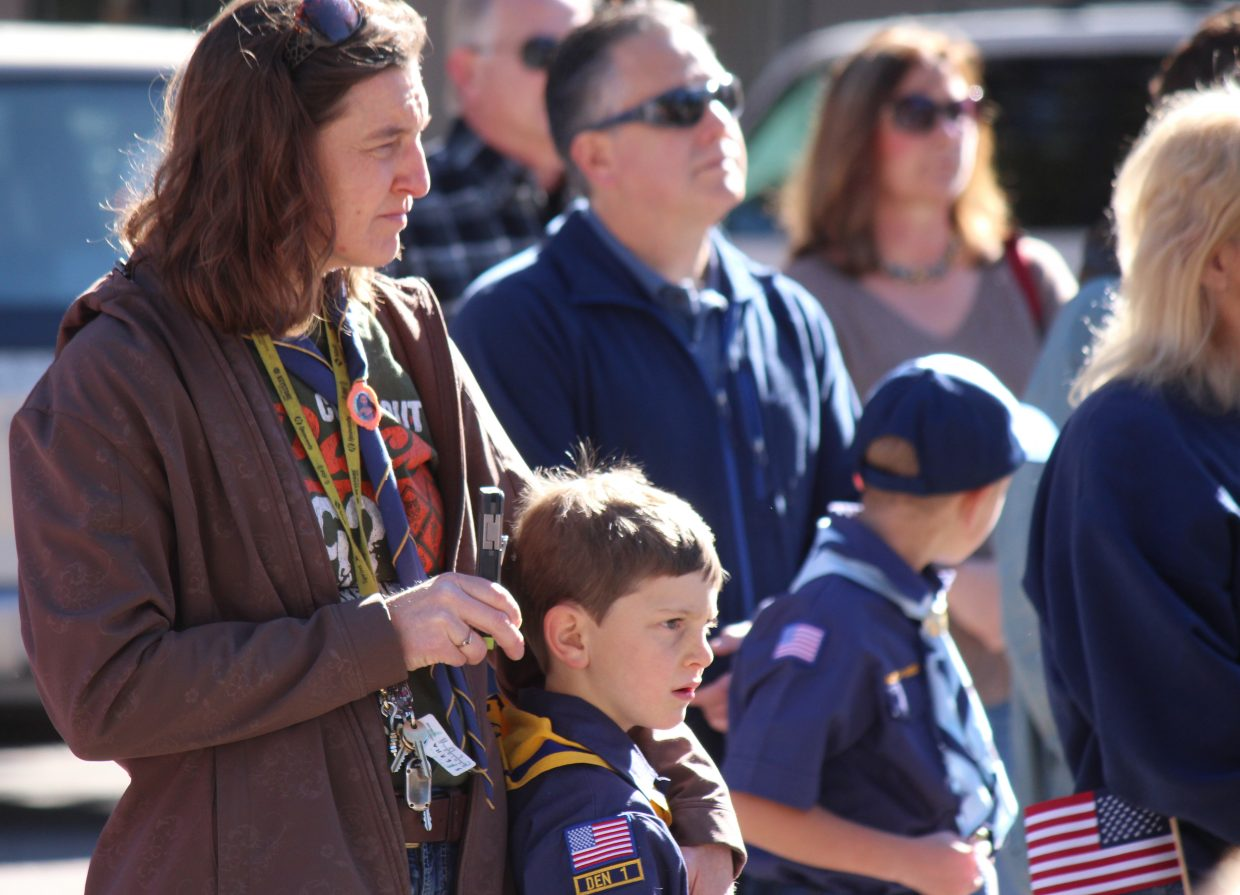 Plenty of people turned out for a Veterans Day ceremony Saturday.