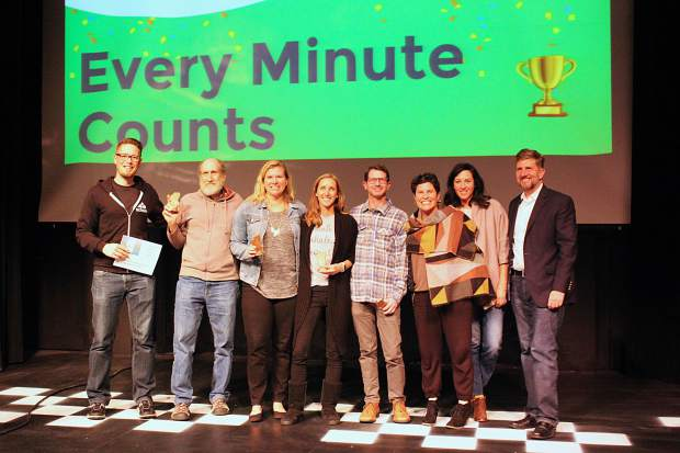 The team behind Every Minute Counts, a mindfullness app, won third place in Startup Weekend Tahoe.