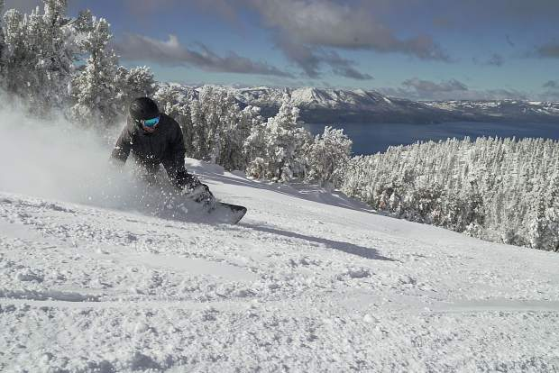 Skiers and riders were greeted with a foot of fresh powder when Heavenly Mountain Resort opened for the 2017-18 season Friday, Nov. 17.