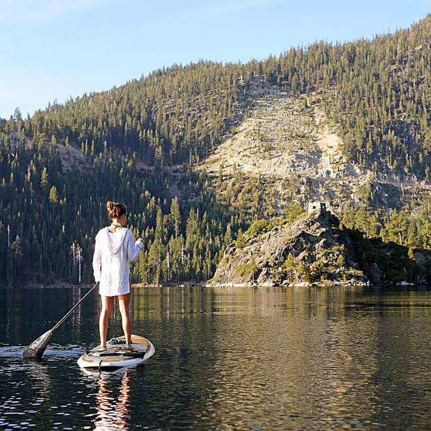 Stand up and paddle.