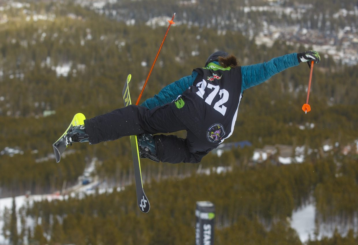 South Lake Tahoe's Maddie Bowman competes in the Dew Tour Olympic qualifying event at Breckenridge Ski Resort in Colorado.