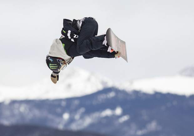 South Lake Tahoe's Jamie Anderson competes Saturday, Dec. 16, in the slopestyle finals during the Dew Tour Olympic qualifying event at Breckenridge Ski Resort in Colorado. Anderson took second place with a high score of 93.33.