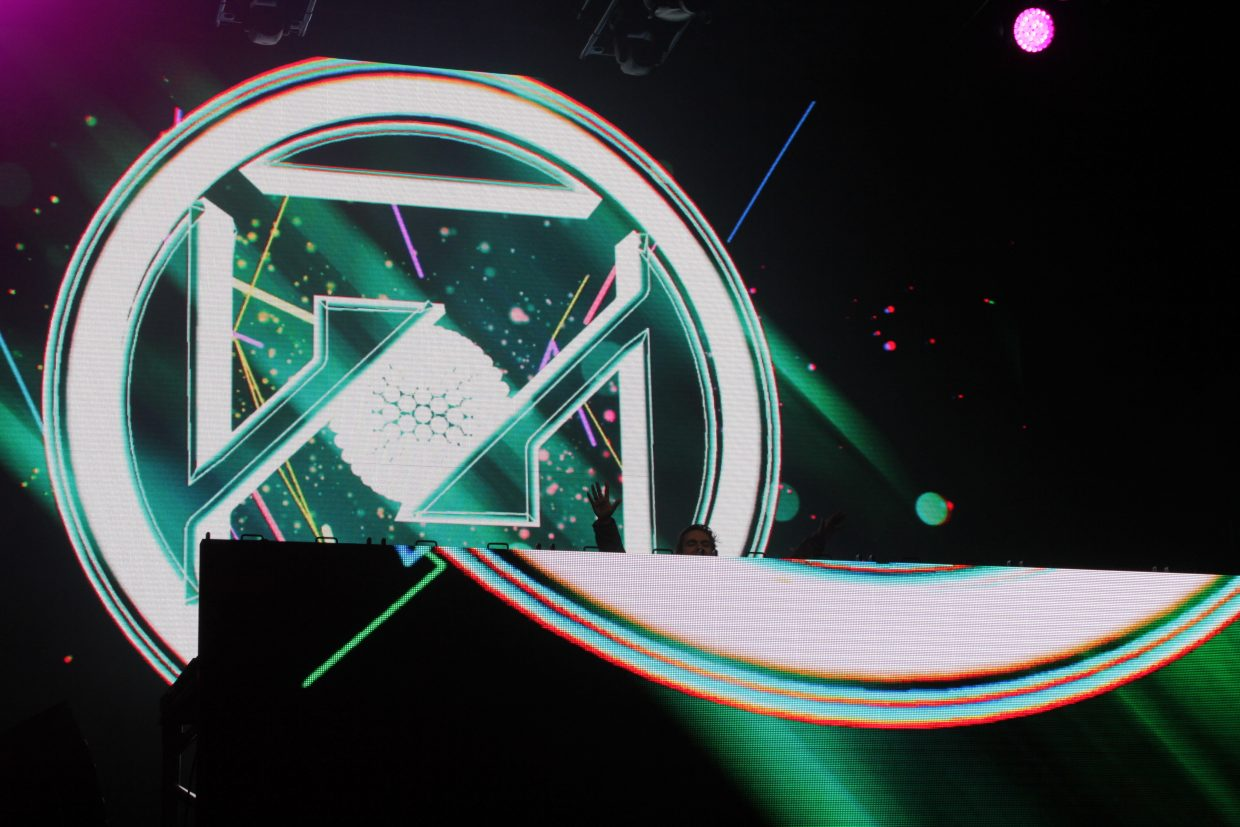 ZEDD performed many well-known tracks, accompanied by an elaborate light show and fire.