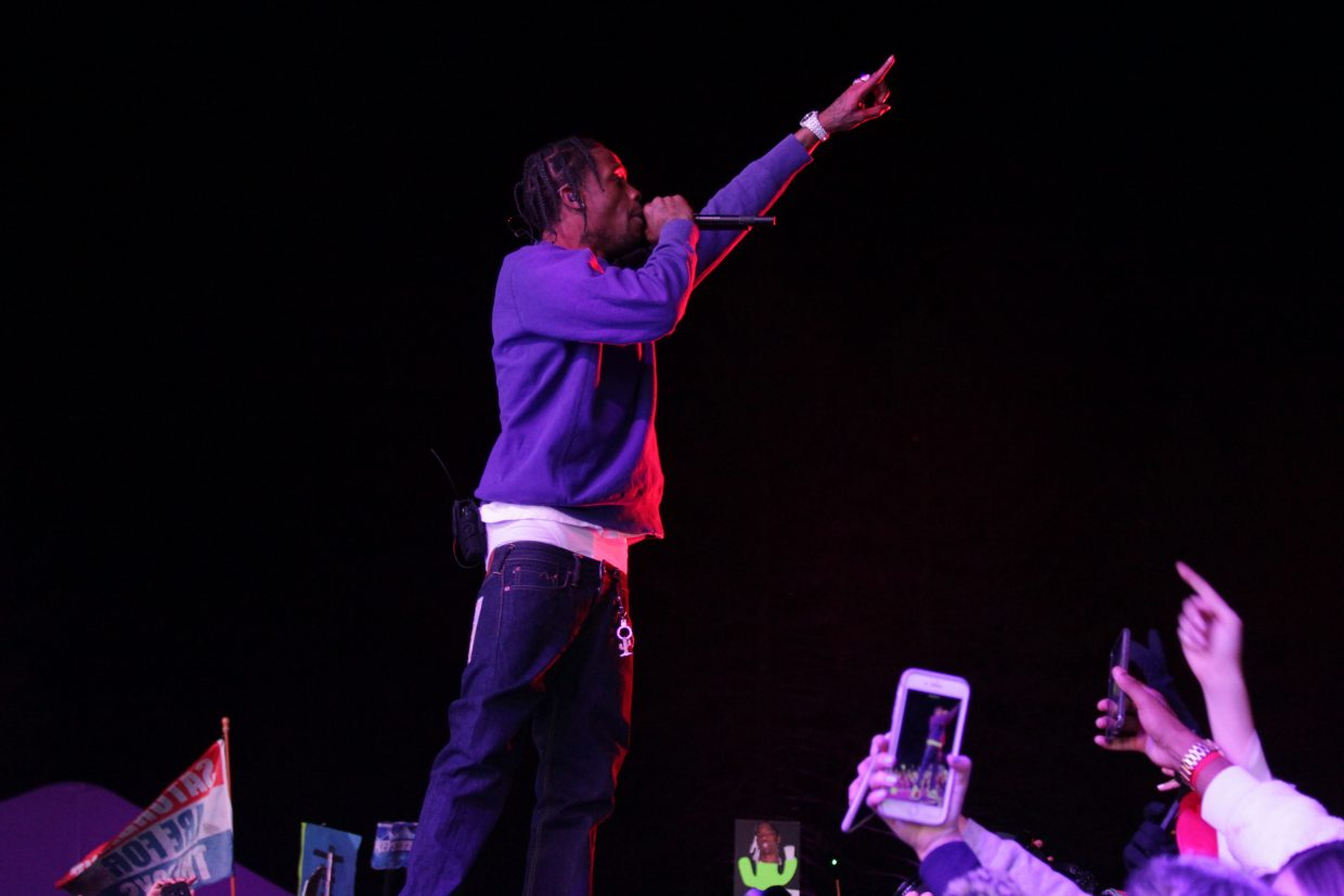 Travis Scott performed in front of a packed crowd on SnowGlobe's opening night.