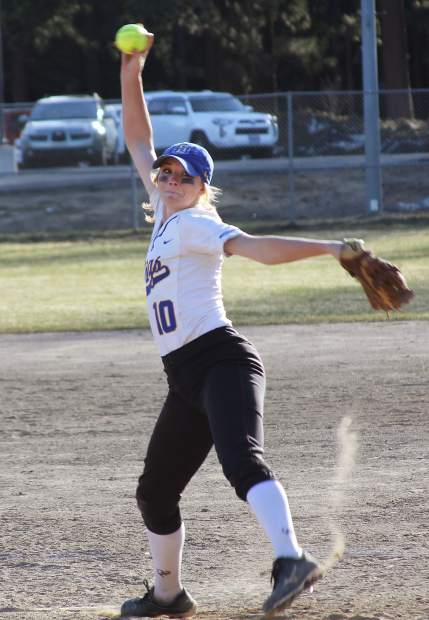 South Tahoe senior softball pitcher Kendra Conard finished her most recent season with a 0.84 ERA, her best record as a varsity player.