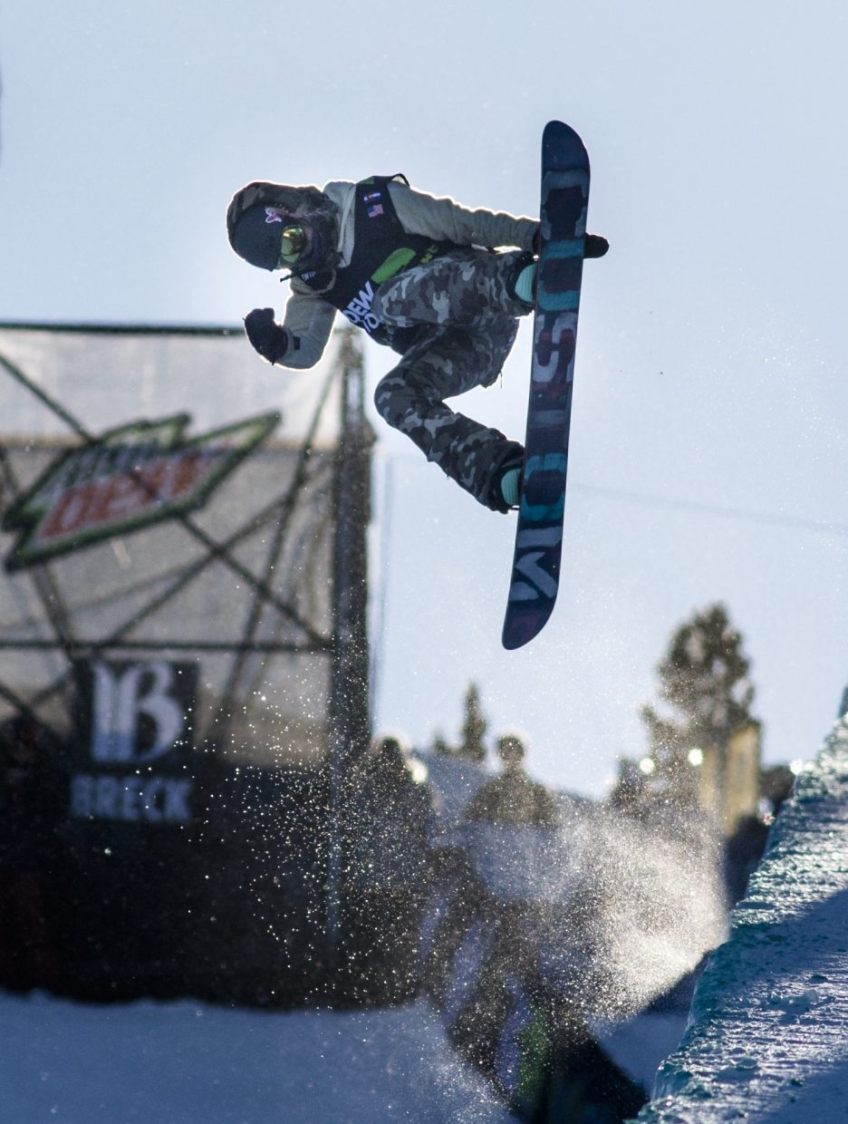 South Lake Tahoe's Hannah Teter competes in the Dew Tour Olympic qualifying event at Breckenridge Ski Resort in Colorado.