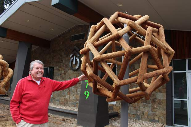 The three sculptures are on display at the Tahoe Mountain Lab, located on Harrison Avenue.