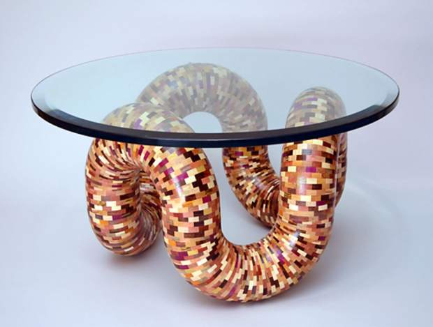 Tubular Coffee Table by Malcolm Tibbetts