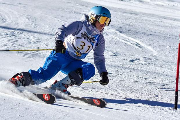 South Tahoe senior Lyndsey Allen competes Tuesday, Dec. 12, at Alpine Meadows.