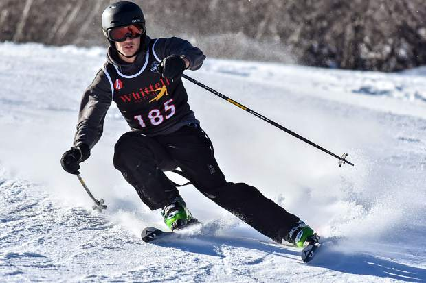 Whittell's Andrew Carlisle led the Warrior boys team to a fourt- place finish Tuesday, Dec. 12, at Alpine Meadows.