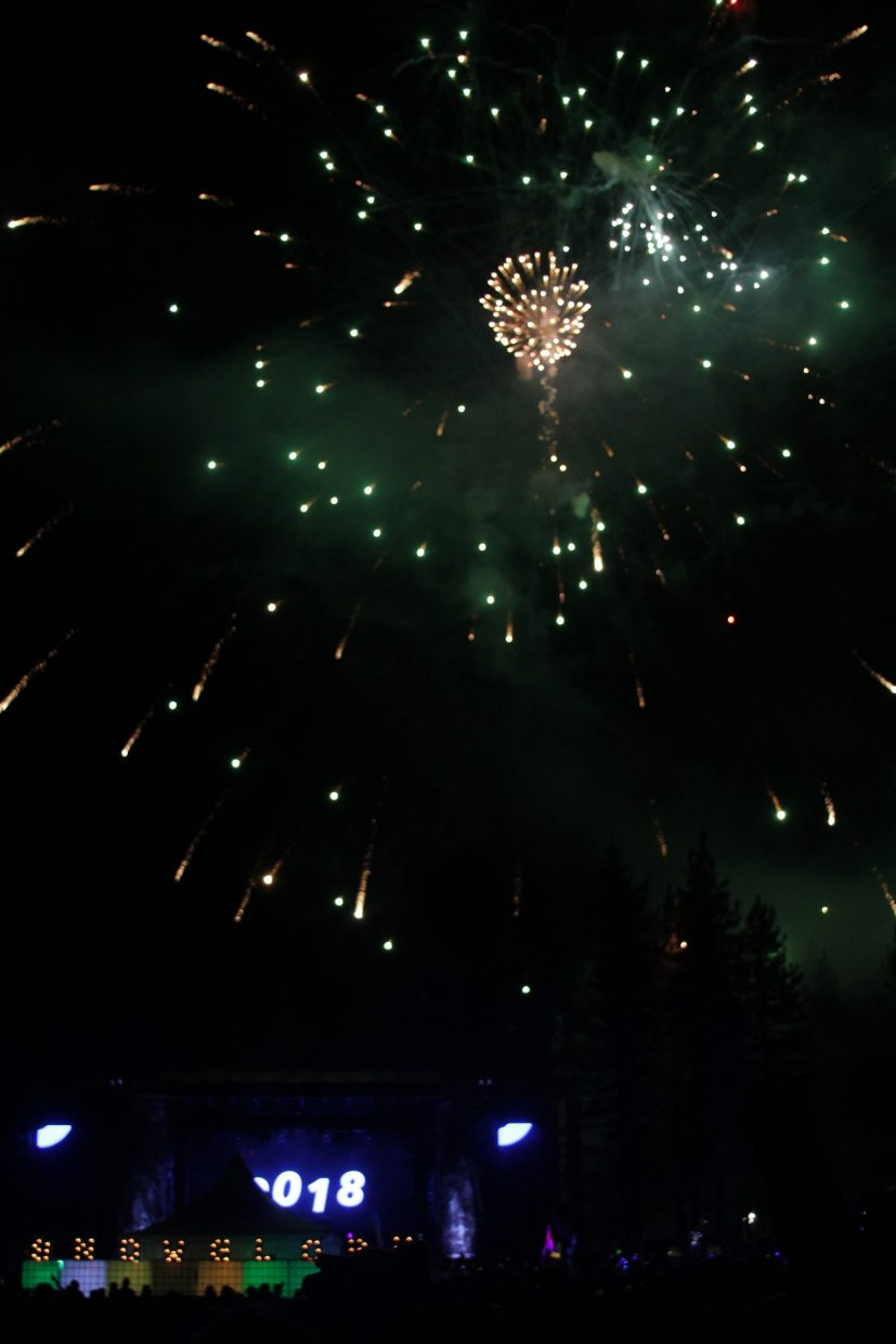 SnowGlobe rang in the new year with fireworks and music from Alison Wonderland.