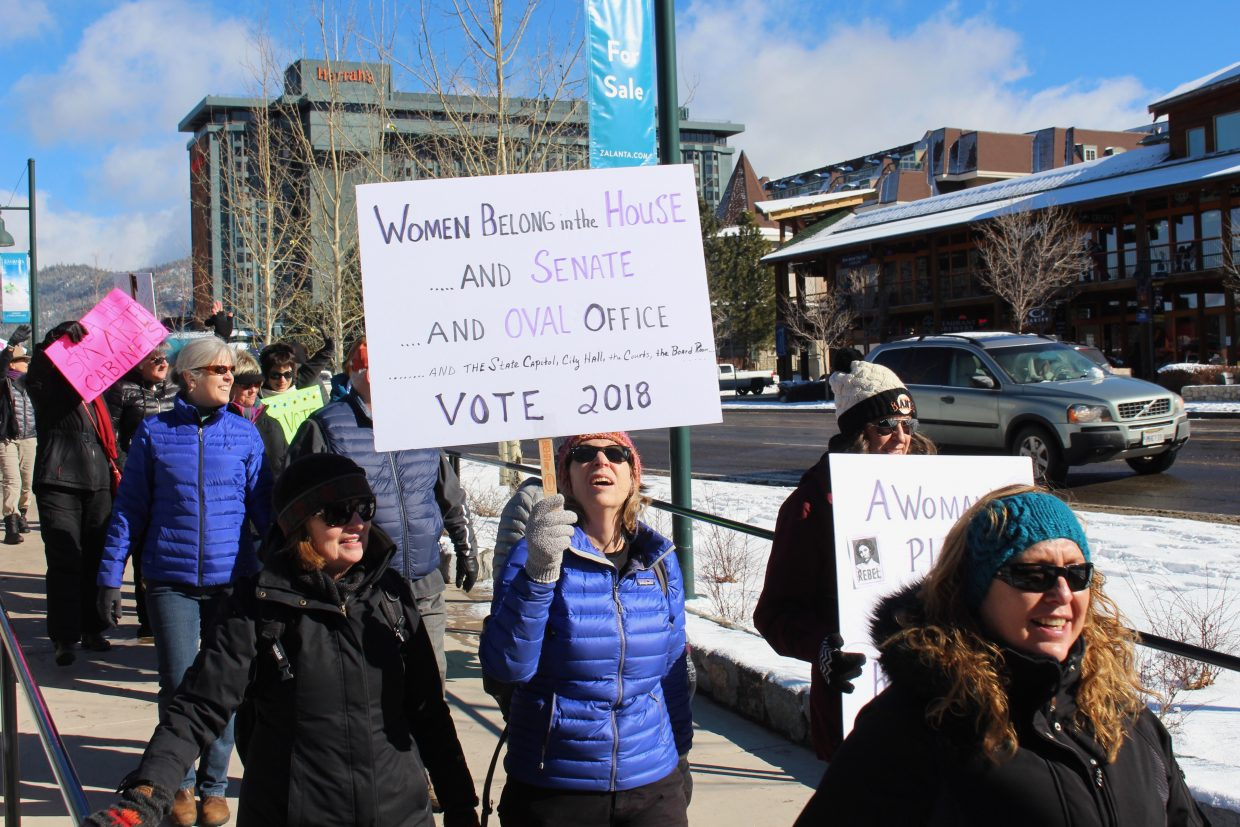 The event was a bi-state march, which began in Stateline and concluded i South Lake Tahoe.