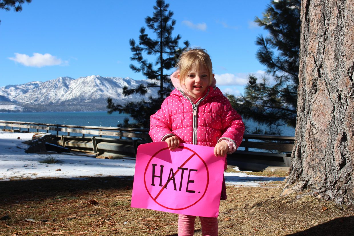 There were attendees of all ages at the Women's March on Lake Tahoe's South Shore this Saturday.