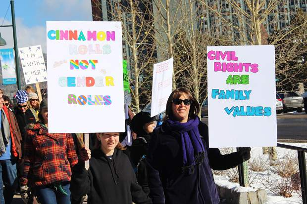 Marchers cited a varierty of reasons for taking to the streets.