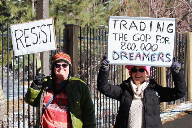 Marchers trekked from Stateline to Lakeview Commons in South Lake Tahoe.